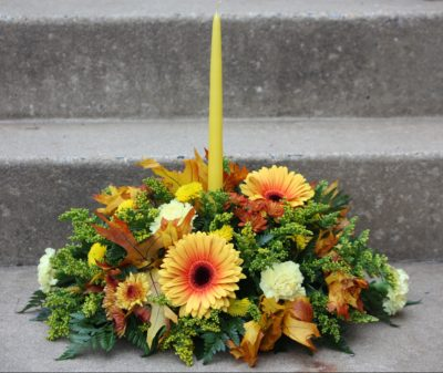 One Tapered Candle Arrangement