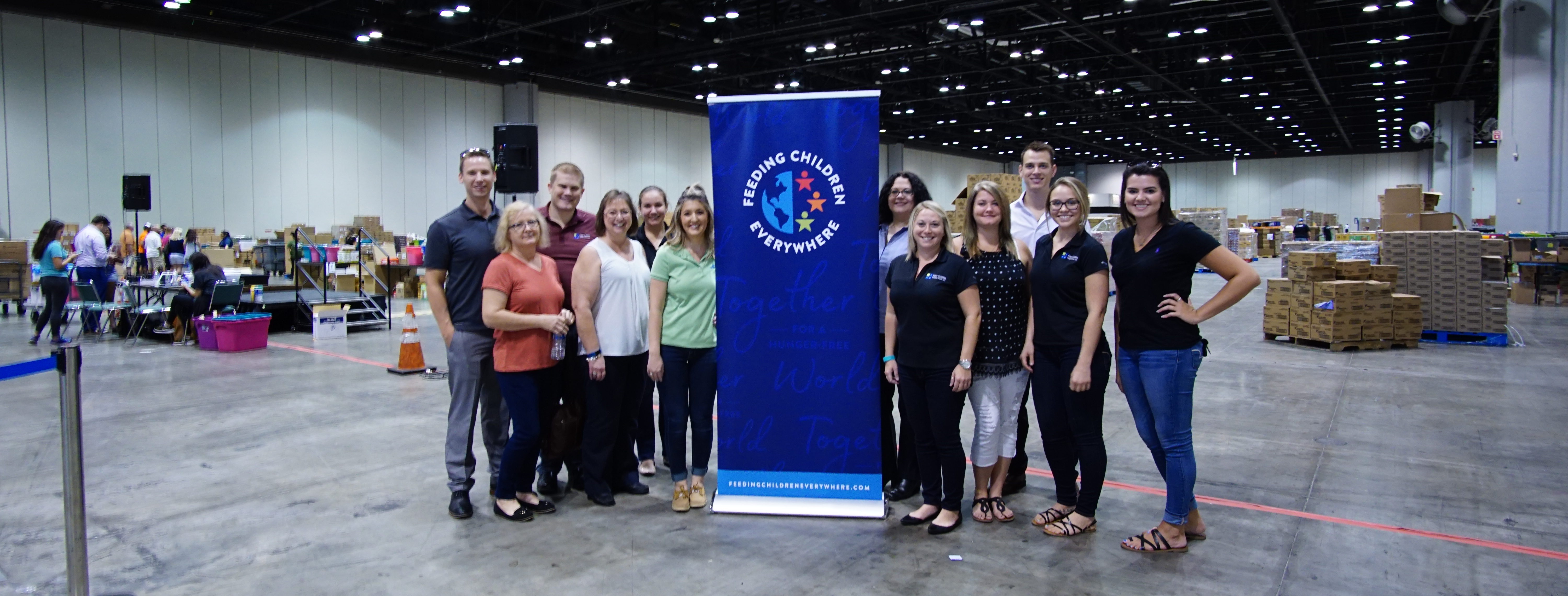 Image of the FCPG team who helped pack meals for Hope for Puerto Rico.