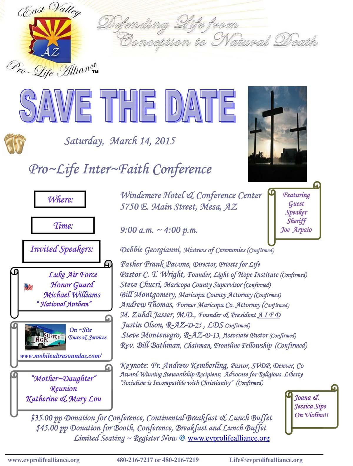 ProLife Interfaith Conference 2015