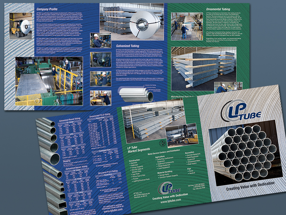 Steel manufacturer, LP Steel, Sales catalog/brochure