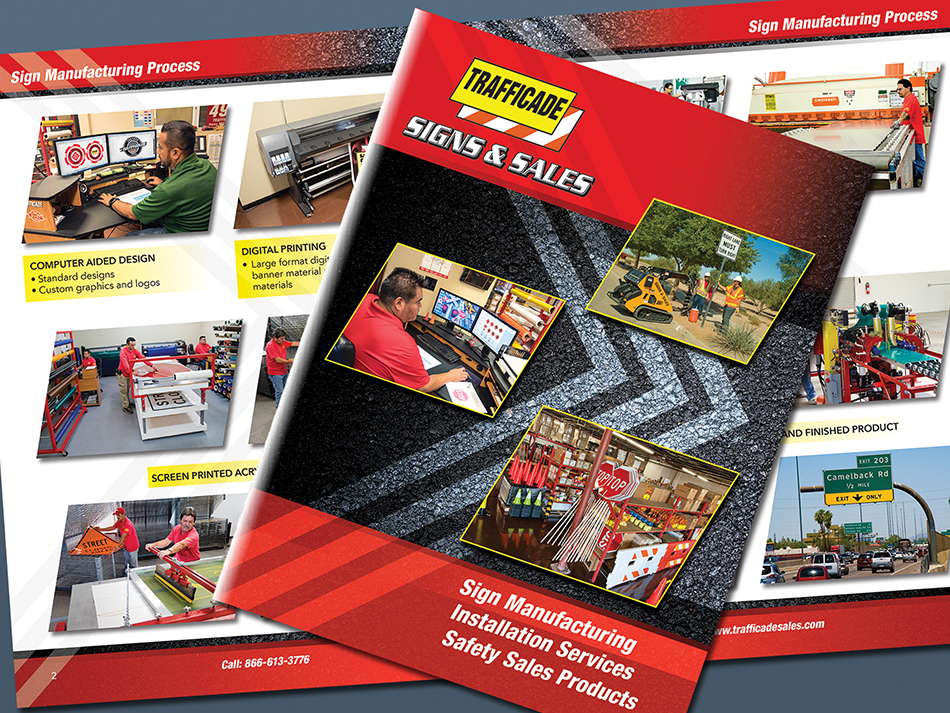 Highway Traffice control company, Trafficade, Sales and services catalog sample