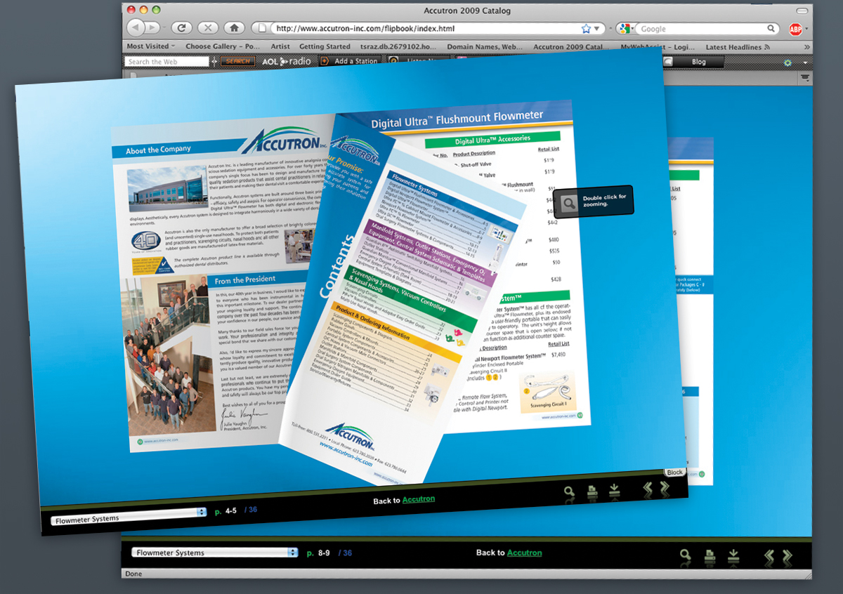 Sample of a Flipping Book Catalog online