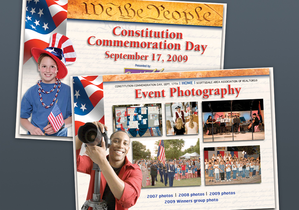 Website development for a Scottsdale Event we photographed