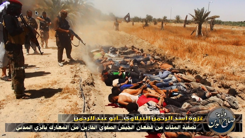 ISIS-execute-police-and-soldiers-in-open-field
