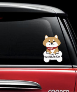 Car Sticker - Bone Red