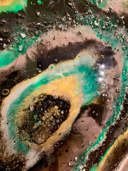 Jana Gamble | Intuitive Original Art Charlottesville | Black Hole Detail