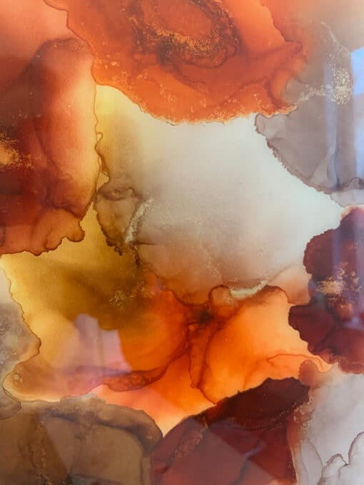 Jana Gamble | Intuitive Art Charlottesville | Fire Close Up 1