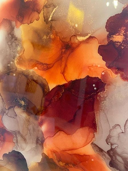 Jana Gamble | Intuitive Art Charlottesville | Fire Close Up 2