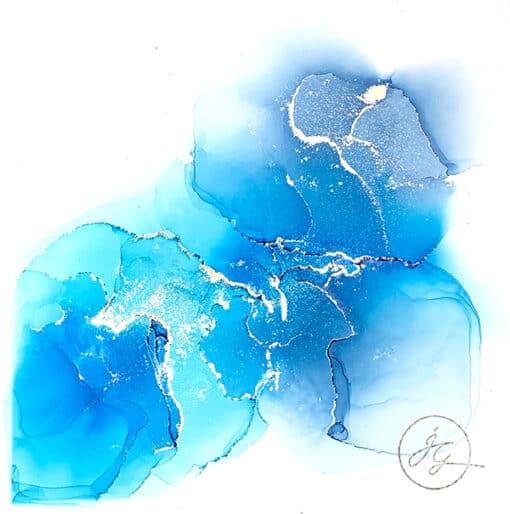 Jana Gamble | Alcohol Ink Artist | Alcohol Ink Art | Mixed Media Art | Acrylic Art | Original Art for Sale | Charlottesville Virginia | Bhramari closeup
