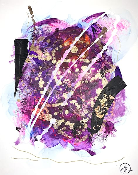 Jana Gamble | Alcohol Ink Artist | Alcohol Ink Art | Mixed Media Art | Acrylic Art | Original Art for Sale | Charlottesville Virginia | Dolce Closeup Image