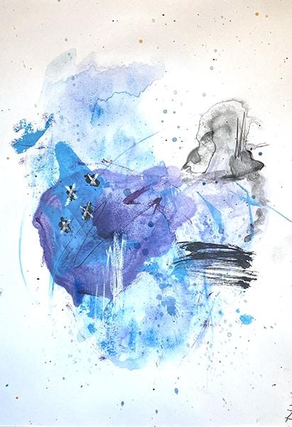 Jana Gamble | Alcohol Ink Artist | Alcohol Ink Art | Mixed Media Art | Acrylic Art | Original Art for Sale | Charlottesville Virginia | Isle Closeup Image