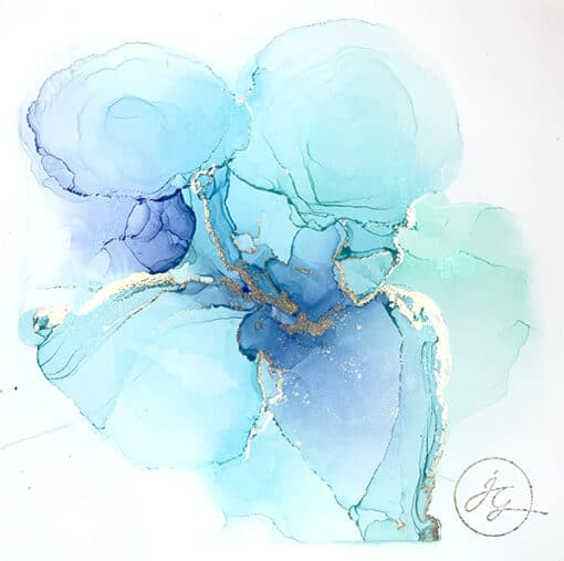 Jana Gamble | Alcohol Ink Artist | Alcohol Ink Art | Mixed Media Art | Acrylic Art | Original Art for Sale | Charlottesville Virginia | Laya close up