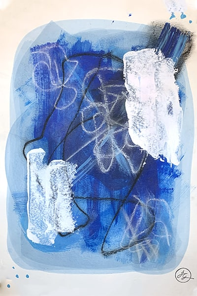 Jana Gamble | Alcohol Ink Artist | Alcohol Ink Art | Mixed Media Art | Acrylic Art | Original Art for Sale | Charlottesville Virginia | Assemblage closeup