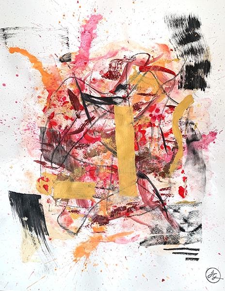 Jana Gamble | Intuitive Art Charlottesville | Meraz Closeup Image