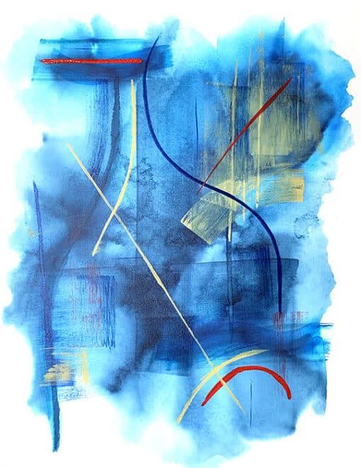 Jana Gamble | Intuitive Art Charlottesville | Metanoia Closeup Image