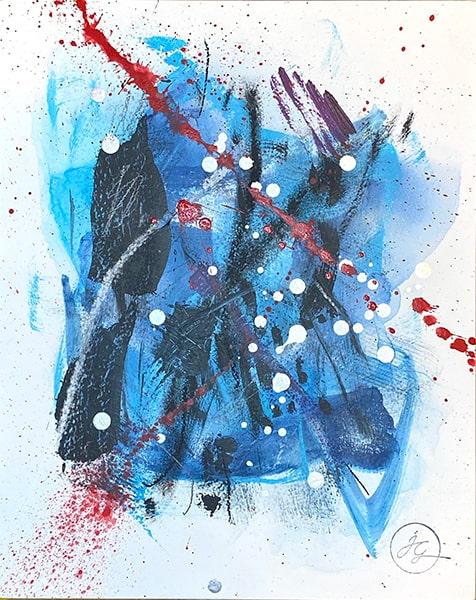 Jana Gamble | Intuitive Art Charlottesville | Veil Closeup Image