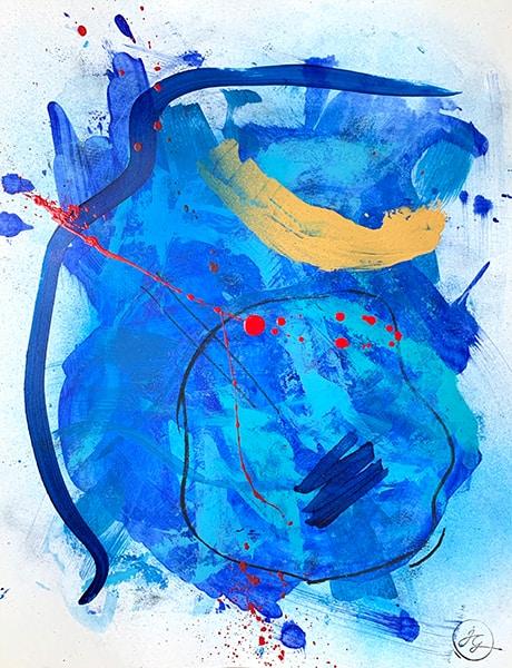 Jana Gamble | Intuitive Art Charlottesville | Viraha Closeup Image