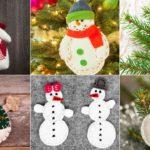 Los mejores diseños de muñecos de nieves navideños