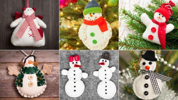 Diseños de muñecos de nieve navideños