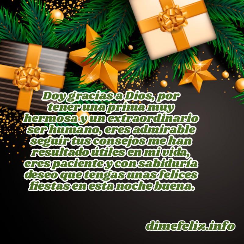 Mensajes de Navidad para mi prima