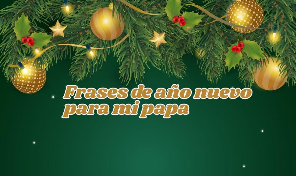 Frases de año nuevo para mi papa