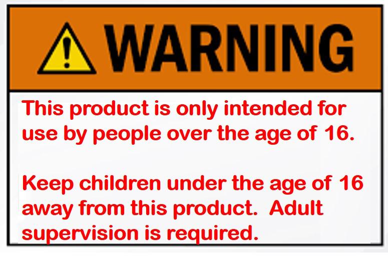 Jardim Meisner Susser, product usage warning