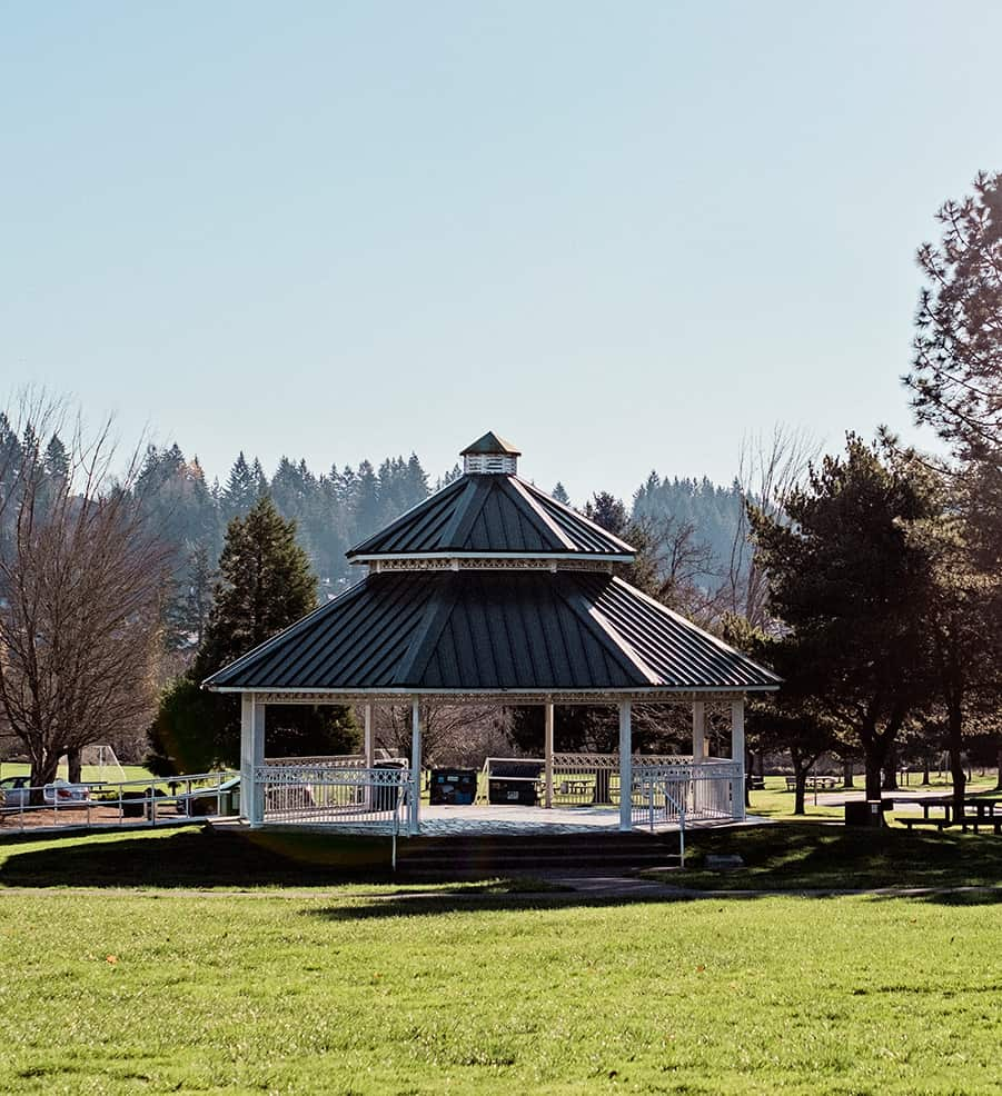 Gazebo in a Park in Happy Valley, Oregon