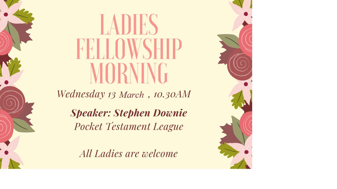 Ladies Fellowship Morning