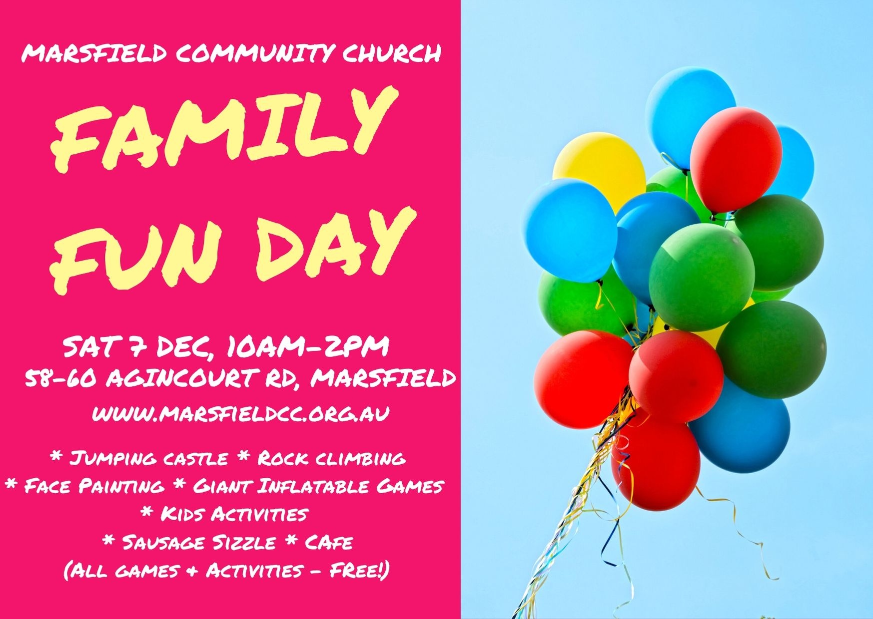 Family Fun Day 7 December 2019