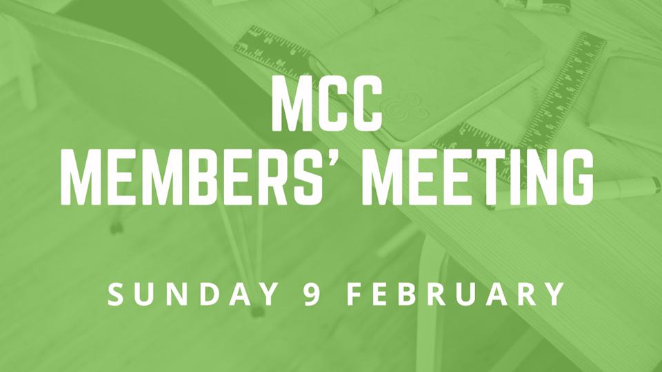 Member's Meeting 9 February 2020