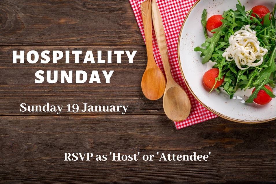 Hospitality Sunday 19 January 2020