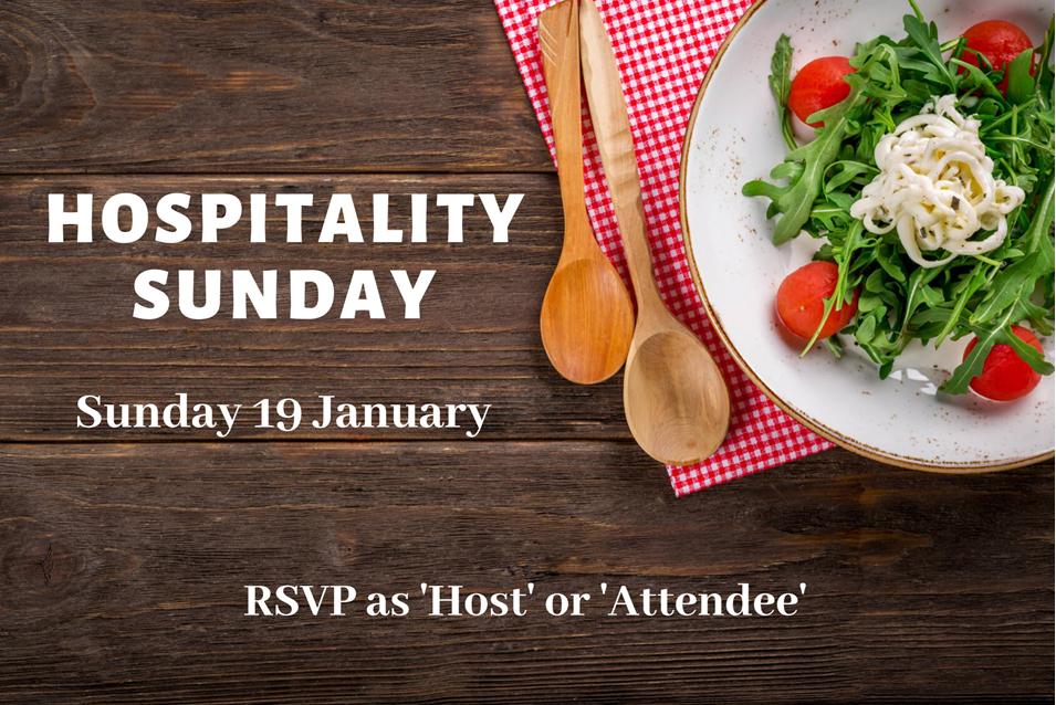 Hospitality Sunday 19 January 2020