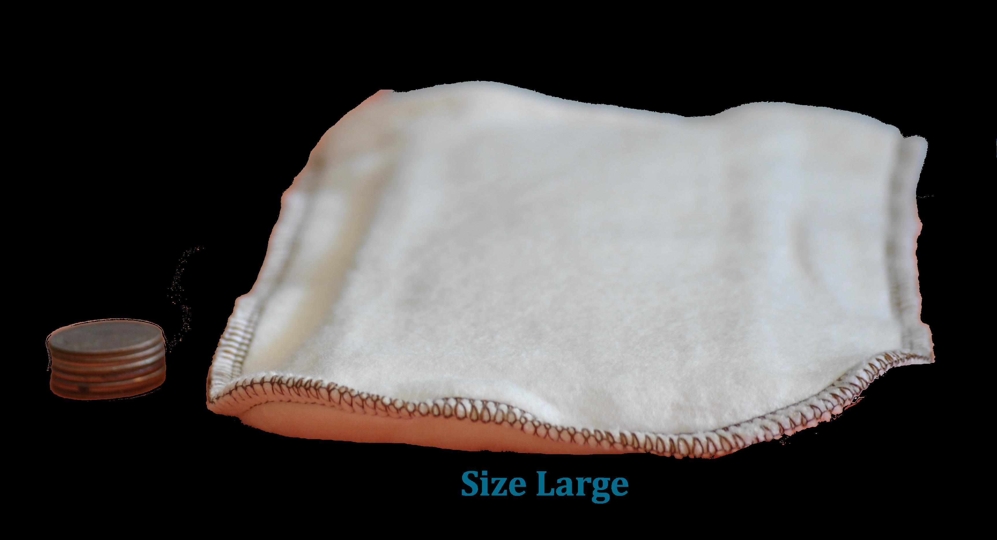 Hemp/ Organic Cotton Pocket Duo Cloth Diaper & Potty-Training Inserts- 2 Pack: 1 Size Small/1 Size Large