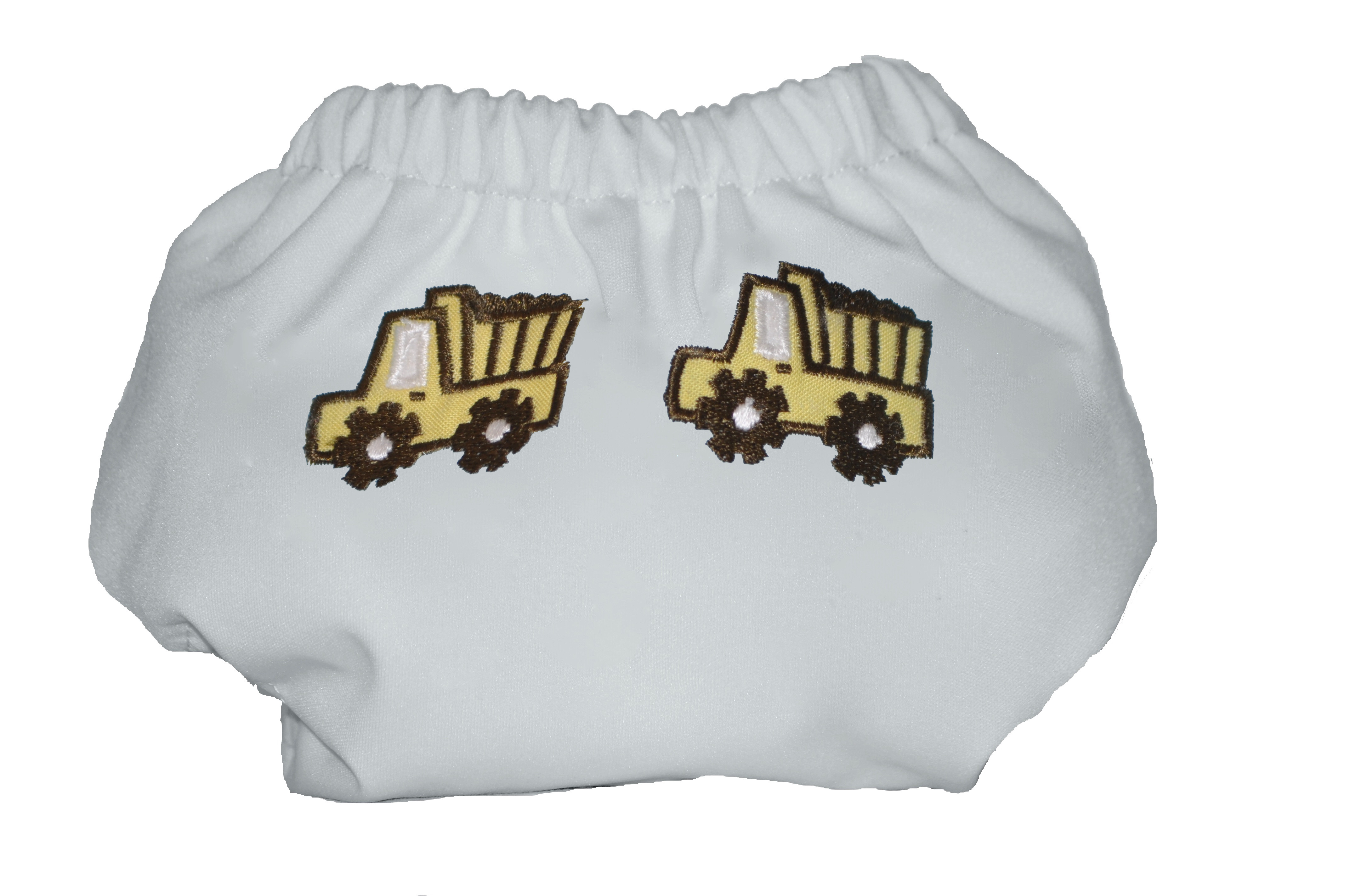Eco Plush Bamboo One Size Pocket Diaper- Dumptruck Fun!
