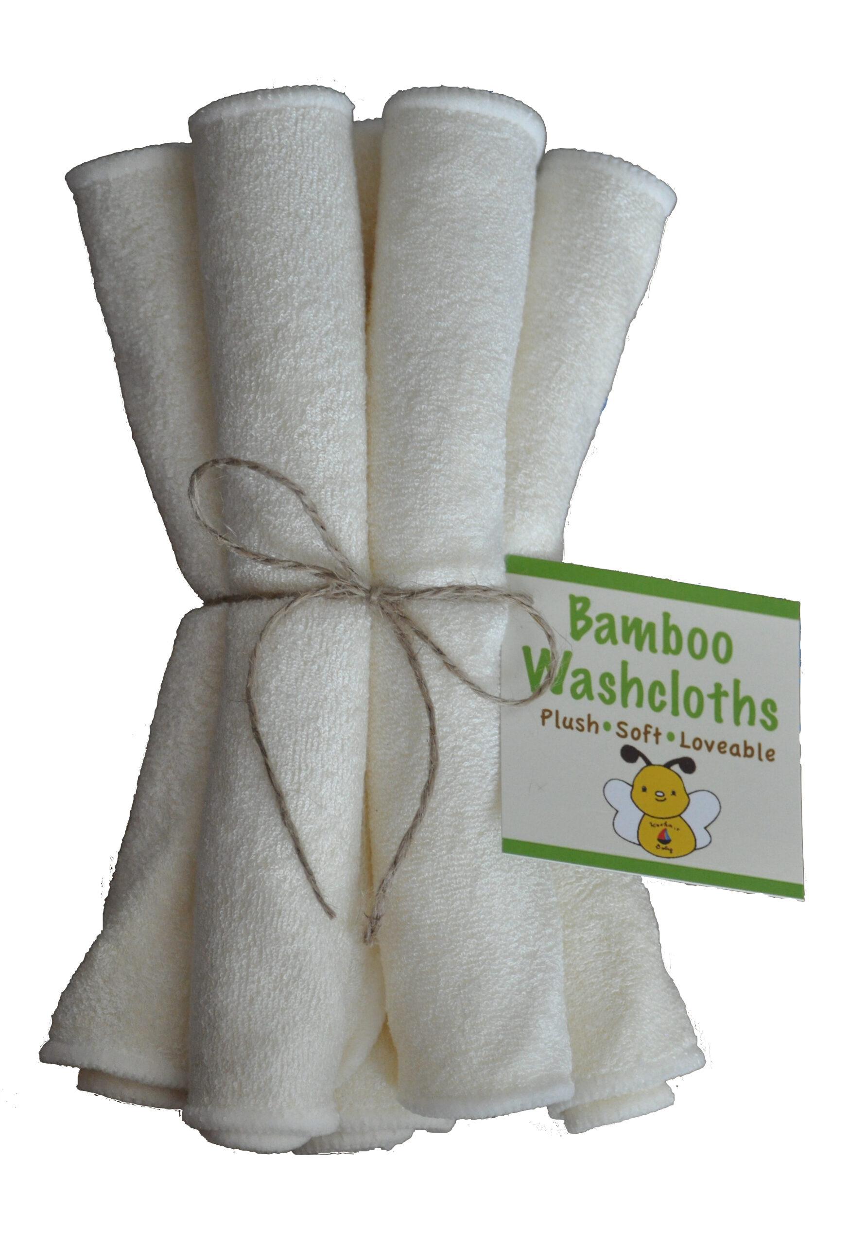Organic Bamboo Washcloths. (10 Pack) Teething Relief/ Natural Freezer.