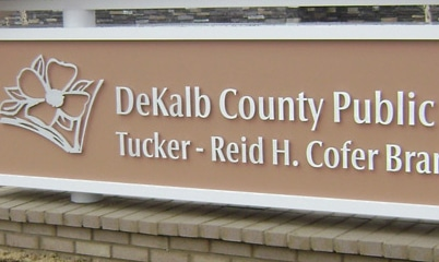 Option Signs Custom Graphics School University College DeKalb County Tucker - Reid