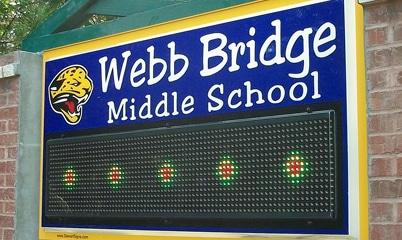 Option Signs Custom Signs Middle School Webb Bridge Digital Display