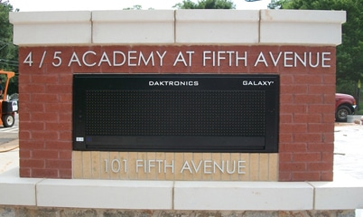 Option Signs Custom Signs Academy at Fifth Avenue