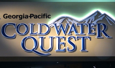 Option Signs Custom Signs Georgia Pacific Cold Water Quest
