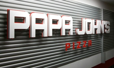 Option Signs Custom Signs Restaurant Papa Johns Pizzeria