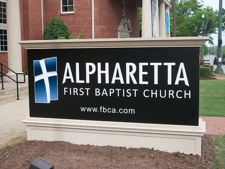 Option Signs Custom Signs Church Monument