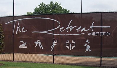 Option Signs Custom Signs Athletics and Stadiums the Retreat at Kirby Station