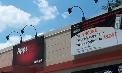 Option Signs Custom Signs Temporary Retail Verizon