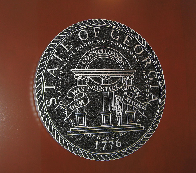 Option Signs Custom Signs State of Georgia Plaque