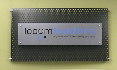 Option Signs Custom Signs ADA Locum Leaders
