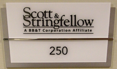 Option Signs Custom Signs ADA Scott & Stringfellow