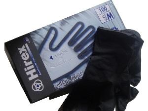 HIREX Crne latex rukavice