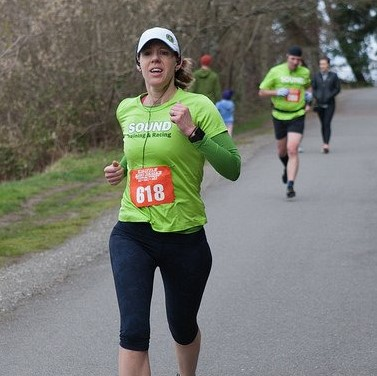 Kathryn Grambo running Fitness For Vitality
