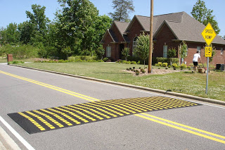 Traffic Logix rubber speed hump