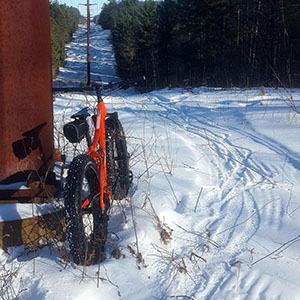Snow Bike Groomed Trail: HVN, Cable WI